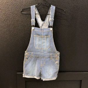 Cutest stripped short overalls!!!